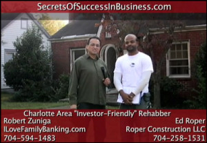 Ed Roper Robert Zuniga 300x207 Charlotte Real Estate Investor Rehabber General Contractor Ed Roper with Robert Zuniga [NC]